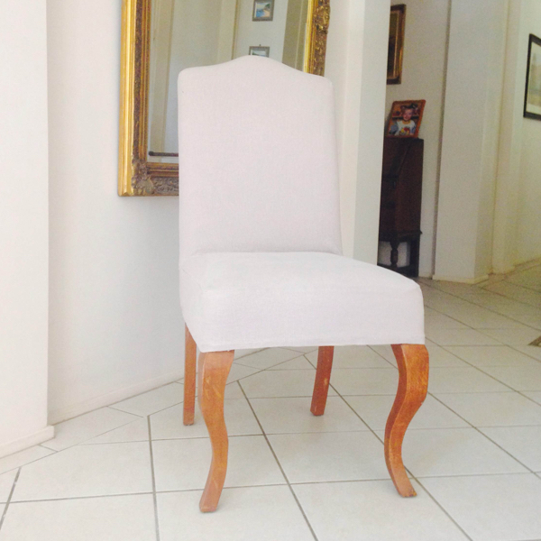 High Back Dining Chair with timber legs and upholstered body
