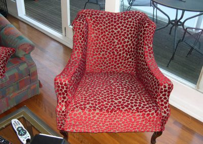 Classic chair with covering