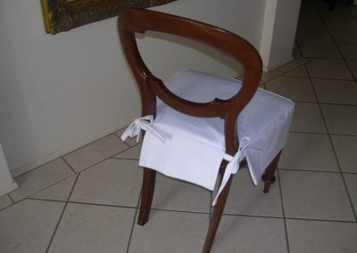 Loose Cover for Vintage Dining Chair Rearview