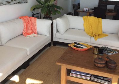 Loose Covers on Matching Sofas