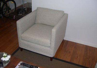 Single seater sofa with new loose cover